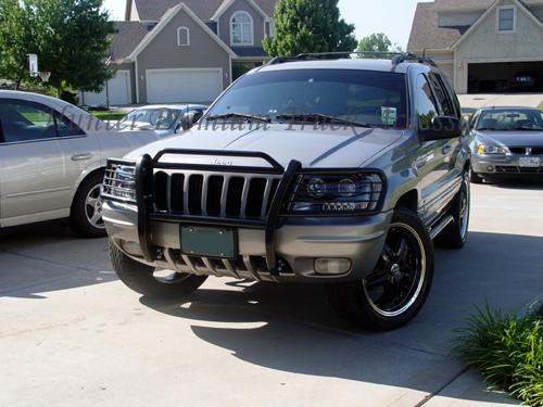 99 04 Jeep Grand Cherokee Brush Grill Guard Black Bumper
