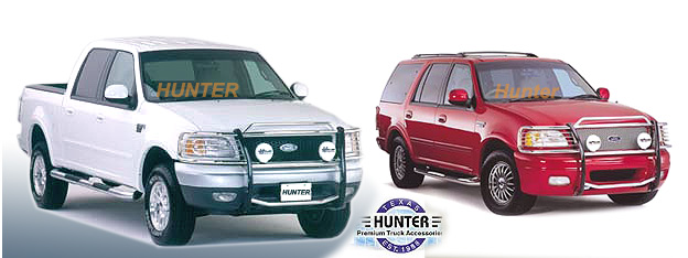 Hunter Premium Truck Accessories Stainless Steel Grille Guard Fits ...