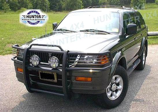 1999 2004 mitsubishi montero sport bumper brush grille grill guard in black - Mitsubishi Montero Sport 2002 Black
